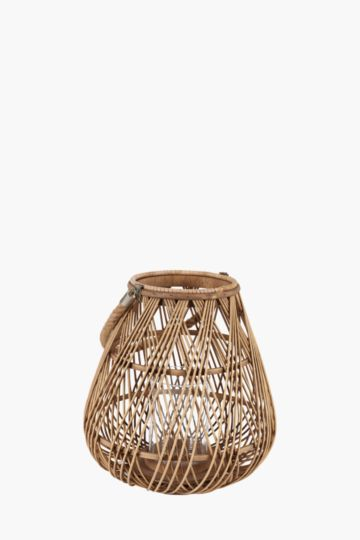 Cross Hatch Bamboo Lantern
