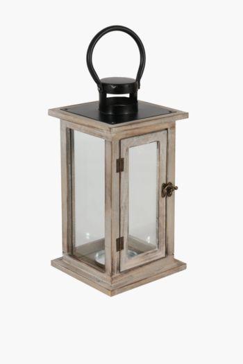 Square Wood Lantern Medium