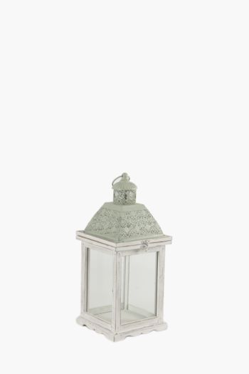 Punched Metal Dome Lantern, Medium