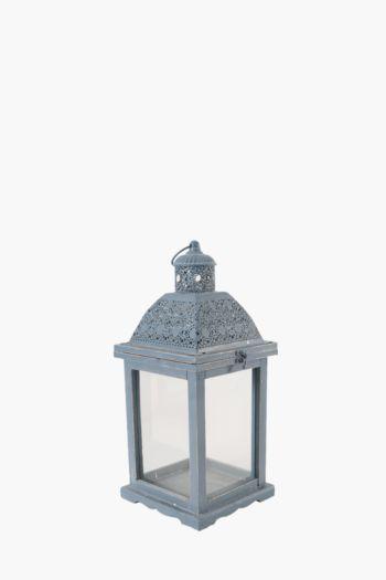 Punched Metal Dome Lantern, Medium
