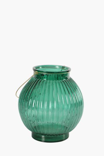 Round Glass Ribbed Lantern