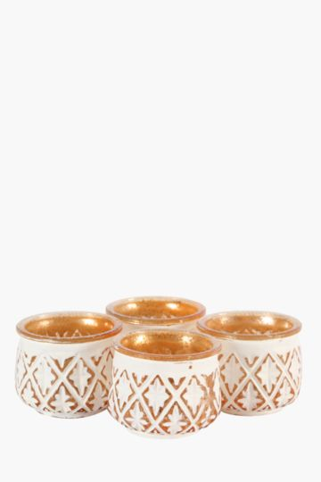 Set Of 4 Votive Candle Holders