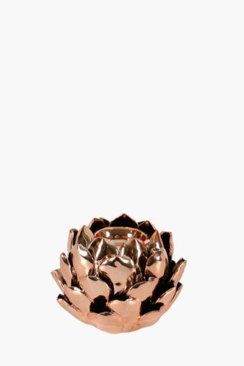 Ceramic Lotus Tealight Holder
