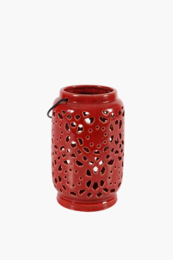 Cut Out Ceramic Lantern