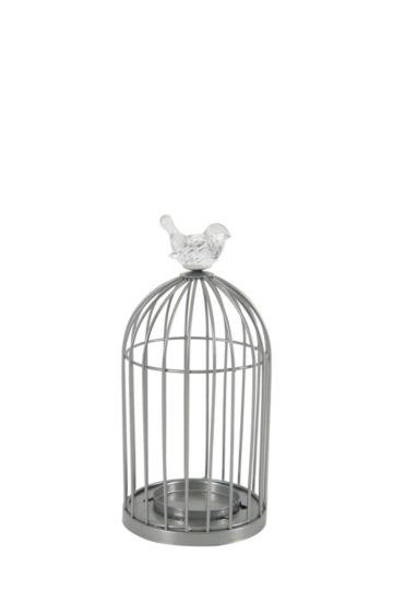 Acrylic Bird Cage Candle Holder