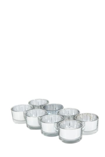 8 Glass Tealight Holders