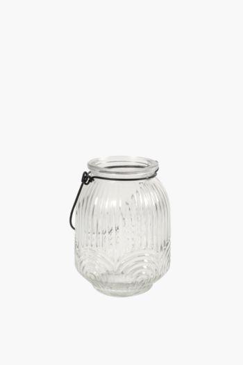 Ribbed Glass Hanging Lantern
