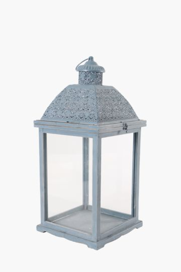 Punched Metal Dome Lantern, Large