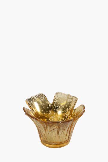 Flower Glass Tea Light Holder