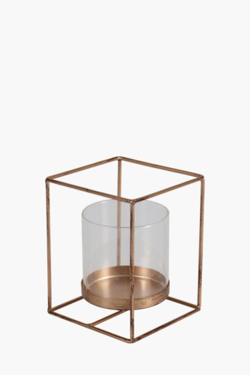 Metal Prism Candle Holder