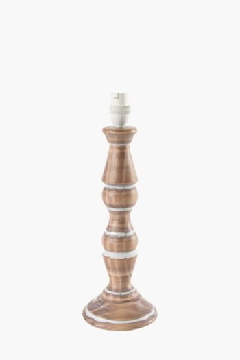 Wooden Carved Table Lamp Base, Medium