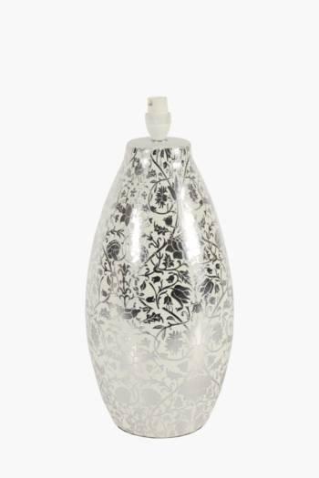 Ceramic Floral Lamp Base