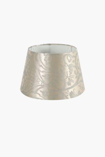 Damask Jacquard Tapered Lamp Shade, Small