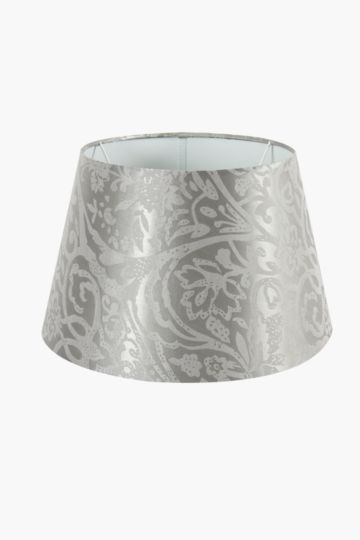 Damask Jacquard Tapered Lamp Shade, Medium