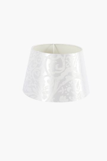 Damask Jacquard Tapered Lamp Shade, Small