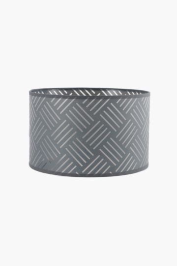 Line Cut Out Drum Shade