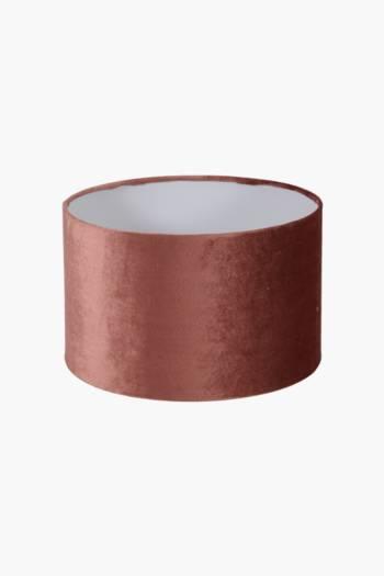 Velvet Drum Lamp Shade, Medium