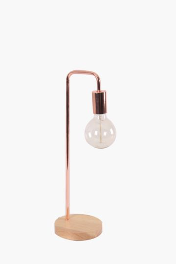 Copper Metal Drop Table Lamp Set