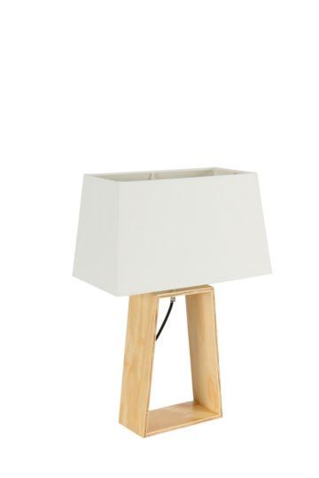 Open Wood Base Lamp Set