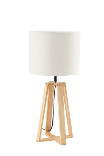 Wooden Base Lamp Set
