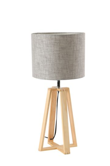 Wooden Base Lamp Set