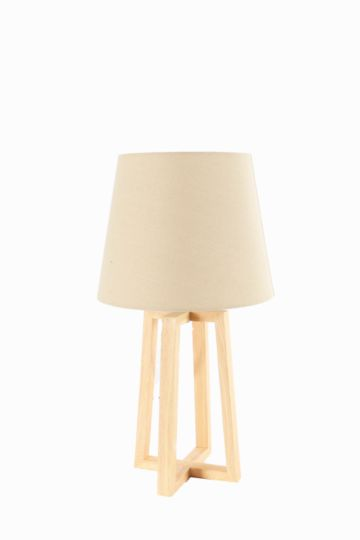 Wooden Base Lamp Set. Buy Bedside Lamps   Desk Lamps Online   Lighting   MRP Home