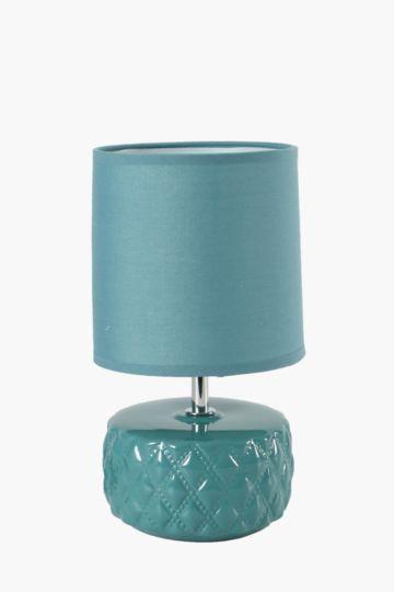 Quilt Ceramic Lamp Set