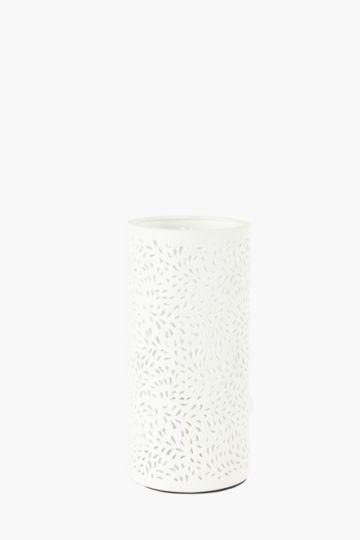 Porcelain Floral Cut Out Lamp Set
