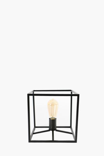 Metal Cube Table Lamp Set