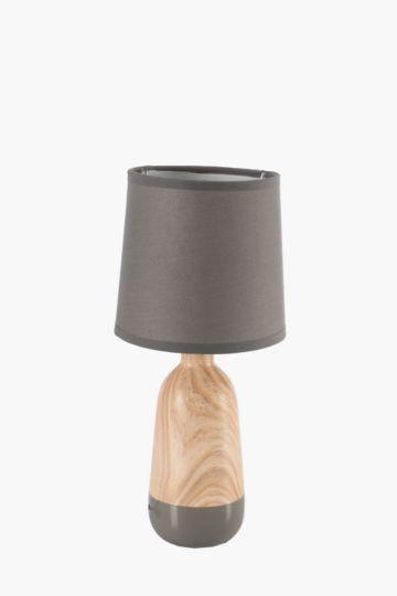 Ceramic And Wood Mini Lamp Set