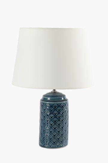 Embossed Base Lamp Set