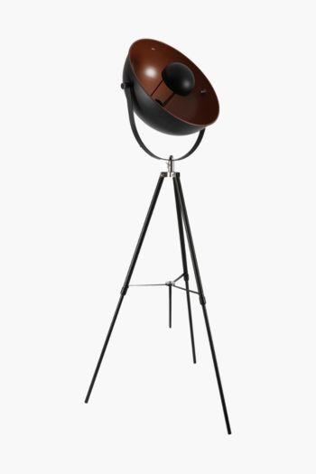 Metal Dome Tripod Standing Lamp