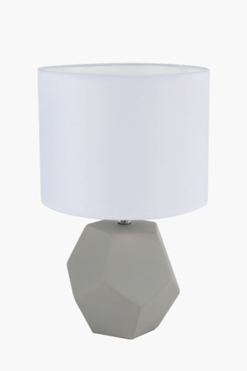 Faceted Table Lamp Set