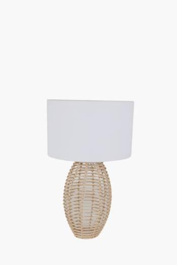 Woven Table Lamp Set