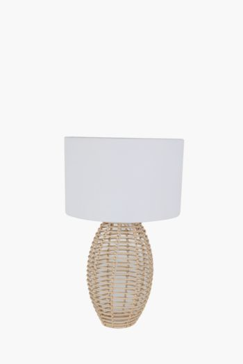 Woven Table Lamp Set