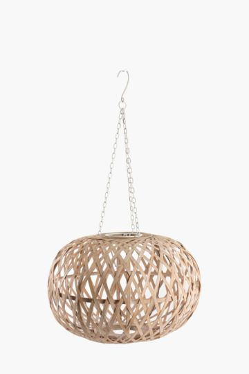 Bamboo Crisscross Ceiling Shade, Medium