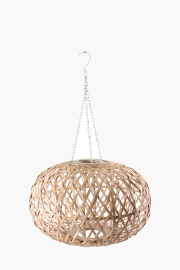 Bamboo Crisscross Ceiling Shade, Large