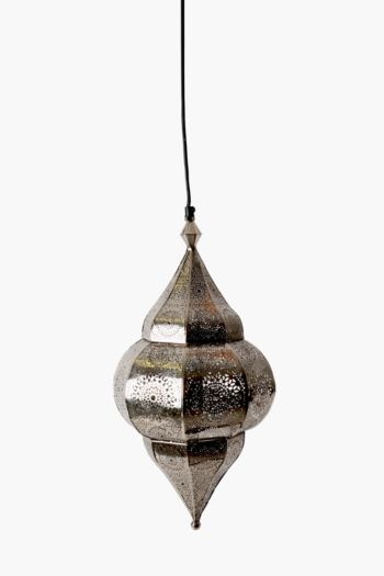 Punched Metal Moroccan Hanging Pendant