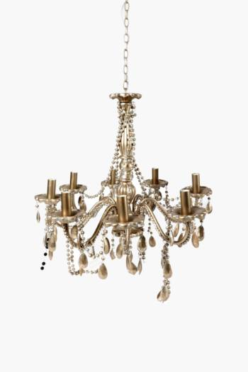 8 Arm Beaded Chandelier