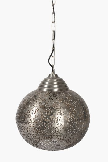 Punched Metal Hanging Pendant