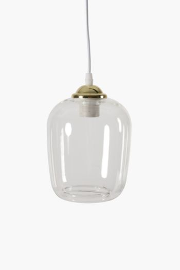 Trinity Glass And Metal Hanging Pendant