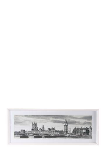 Framed City Scape 40x100cm Wall Art