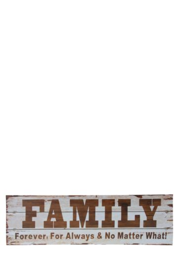 White Washed Family Script Wall Art