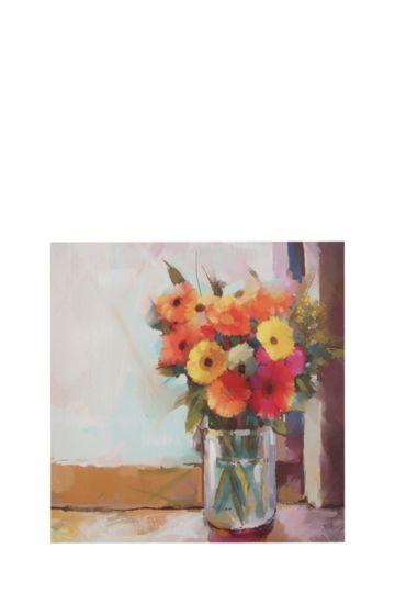 Flowers In Vase 40x40cm Wall Art