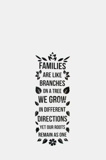 Vinyl Family Are Branches Wall Art Large