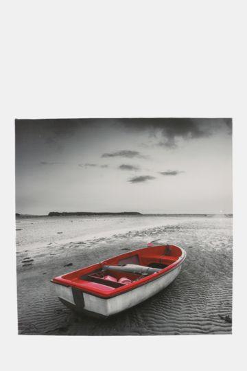 Beached Boat 40x40cm Wall Art