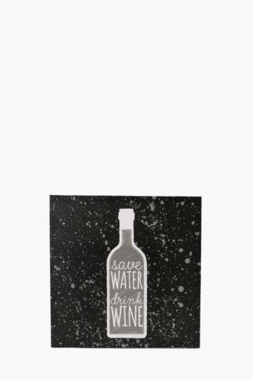 Water Wine 40x40cm Wall Art