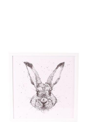 Framed Bunny Love 40x40cm Wall Art