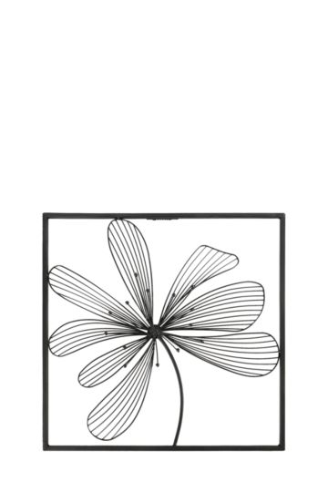 Metal Cut Out Flower 50x50cm Wall Art