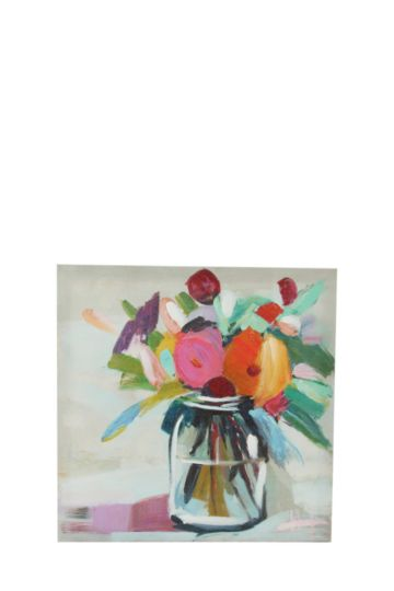 Flowers And Vase 40x40cm Wall Art